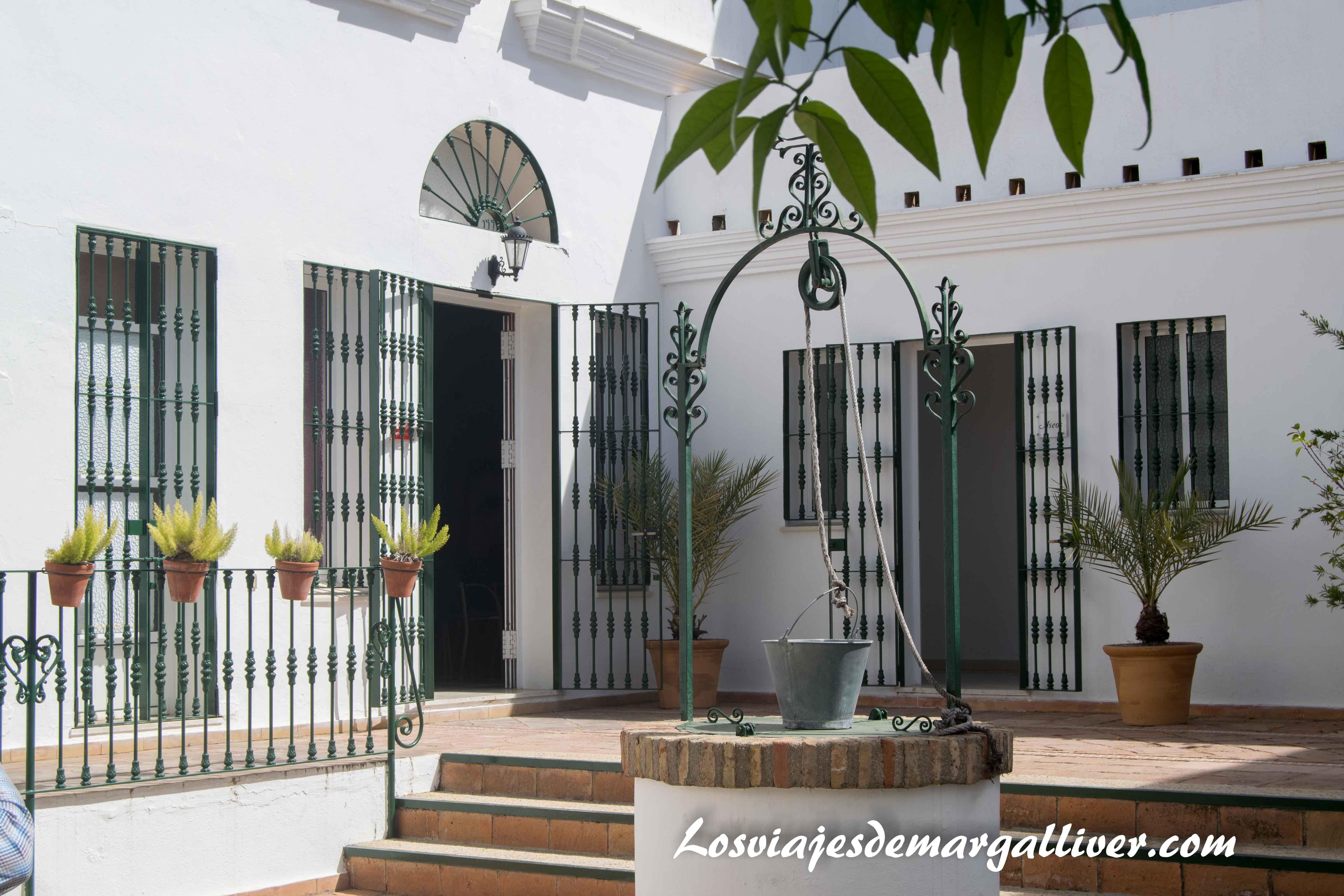 Patio Casa natal de JR Jiménez en Moguer - Los viajes de Margalliver